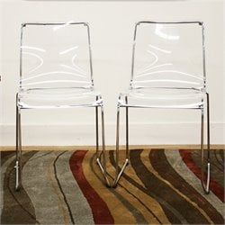 Lino Dining Chair in Clear (Set of 2)
