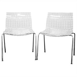 Obbligato Accent Chair in Clear (Set of 2)