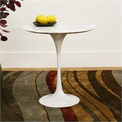 Immer End Table in White