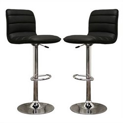 Lyris Bar Stool in Black (Set of 2)