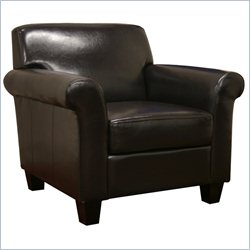 Club Upholstered Arm Chair in Brown