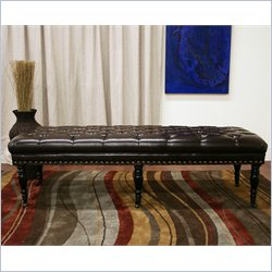 Lexington Wheeled Bench in Dark Brown