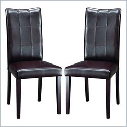 Eden Dining Chair in Dark Brown (Set of 2)