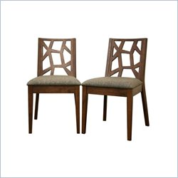Jenifer Dining Chair in Brown (Set of 2)