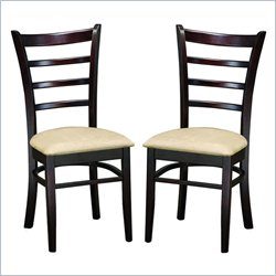 Lanark Dining Chair in Dark Brown (Set of 2)