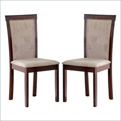 Judy Dining Chair in Dark Brown (Set of 2)