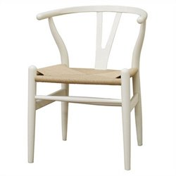Wishbone Y Dining Chair in White (Set of 2)