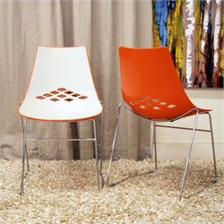 Jupiter Dining Chair in Orange (Set of 2)