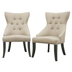 Daphne Dining Chair in Beige (Set of 2)