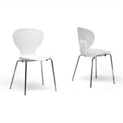 Boujan Dining Chair in White (Set of 2)