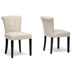 Philippa Dining Chair in Beige (Set of 2)