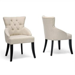 Halifax Dining Chair in Beige (Set of 2)