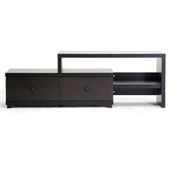 Blythe Asymmetrical TV Stand in Dark Brown