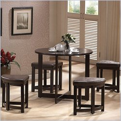 Rochester Bar Table Set in Dark Brown