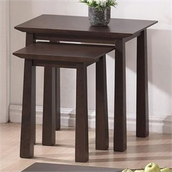 Havana Nesting Table Set in Dark Brown