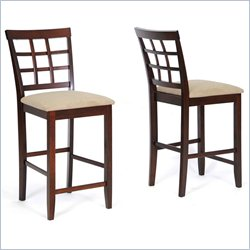 Katelyn Counter Stool in Cappuccino and Brown(Set of 2)