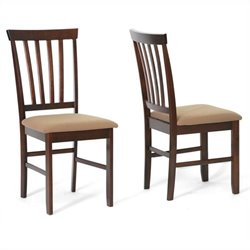Dining Chair in Cappuccino and Brown (Set of 2)