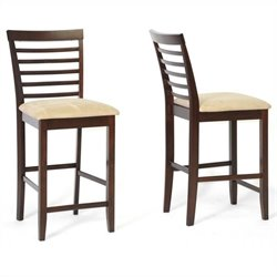 Kelsey Counter Stool in Cappuccino and Brown (Set of 2)