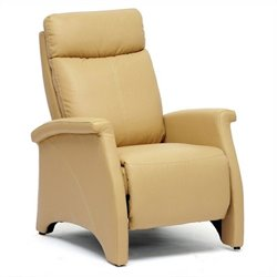 Sequim Faux Leather Recliner Club Chair in Tan