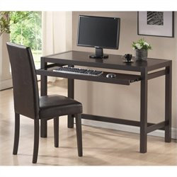 Astoria Desk and Chair Set in Dark Brown