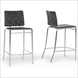 Vittoria Counter Stool in Black (Set of 2)