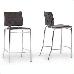 Vittoria Counter Stool in Brown (Set of 2)