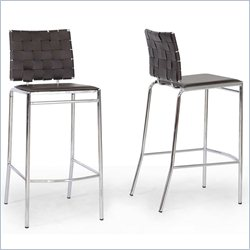 Vittoria Bar Stool in Brown (Set of 2)