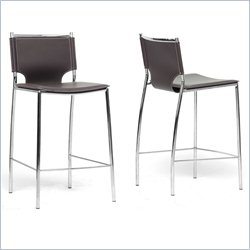 Montclare Counter Stool in Brown (Set of 2)