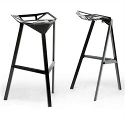 Kaysa Bar Stool in Black (Set of 2)