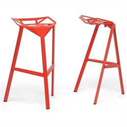Kaysa Bar Stool in Red (Set of 2)