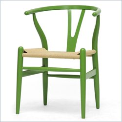 Wishbone Y Dining Chair in Green
