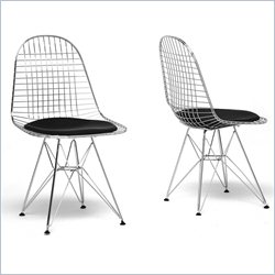Avery Wire Dining Chair in Black (Set of 2)
