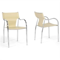 Harris Dining Chair in Ivory (Set of 2)