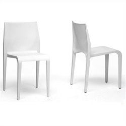 Blanche Dining Chair in White (Set of 2)