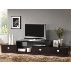 Marconi Asymmetrical TV Stand in Dark Brown