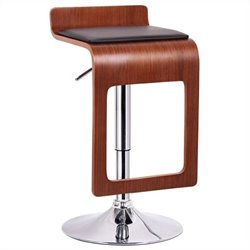 Murl Bar Stool in Walnut and Black (Set of 2)