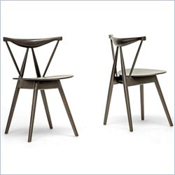 Mercer Dining Chair in Dark Brown (Set of 2)