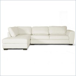 Orland Left Facing Sectional Sofa in White
