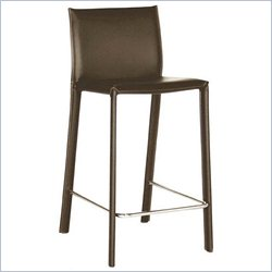 Counter Stool in Brown (Set of 2)