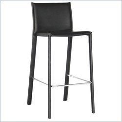 Crawford Counter Height Stool in Black (Set of 2)