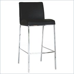 Mesa Bar Stool in Black (Set of 2)
