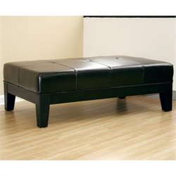 Cocktail Ottoman in Black