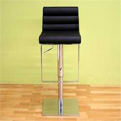 Sandie Adjustable Bar Stool in Black