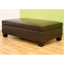 Gallo Storage Ottoman in Brown