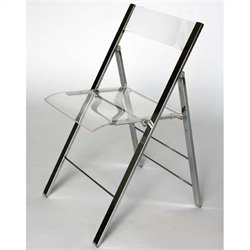 Foldable Folding Chair in Clear (Set of 2)