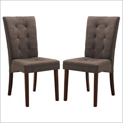 Anne Dining Chair in Dark Brown (Set of 2)
