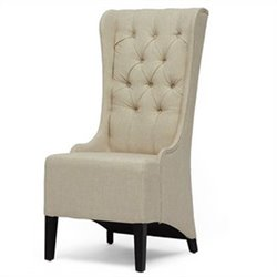 Vincent Tufted Accent Chair in Beige