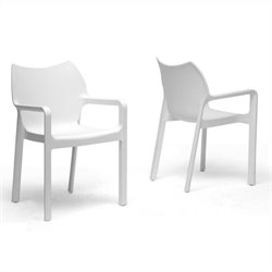 Limerick Stackable Dining Chair in White (Set of 2)