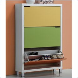 Simms Shoe Cabinet in Multicolor