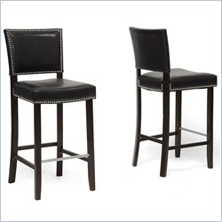 Aries Bar Stool in Black (Set of 2)